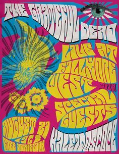 """""""Grateful Dead, Fillmore West, August 22nd, 1968 In this fool's opinion, *almost* as good as the night before. Extra points for a typically gorgeous New Potato and a simply smokin' Alligator … heck, it's all gold. The 21st 22nd together go hand in hand to point to the clarity and wonder of early '69. """""""