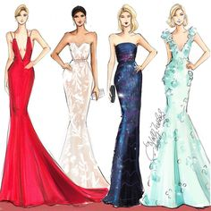 #TheOscars red carpet illustrated with @copicmarker  #fashionsketch…