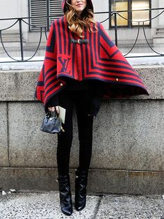 10 Ways to Pull Off a Cape  #InStyle