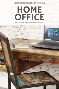 Take a look at our amazing selection of reclaimed wood desks, chairs, shelves and storage units.  Perfect for your home office space. Office Space Design, Home Office Space, Home Office Desks, Office Decor, Home Office Storage, Storage Units, Reclaimed Wood Furniture, Industrial House, Hairpin