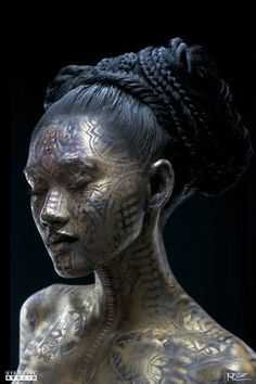 "the black haired beauty Michael Rosner ""Goddess Mahina III"" Body Painting, Street Art Fantasy Eyes, Look Body, Art Visage, Arte Obscura, Real Model, No Photoshop, Face Art, Art Faces, Belle Photo"