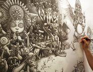 pencil artist Joe Fenton's astonishing, intricate work, dark and yet whimsical ♥