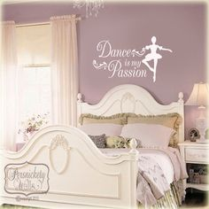Dance is my Passion vinyl quote with by PersnicketyWallVinyl