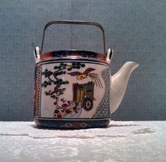 Vintage Japanese Imari Ware Phoenix Teapot by AnchorLineVintage