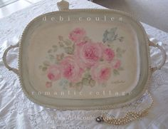 My Vintage Roses and Bluebird Tray available at This lovely romantic Vintage Roses and Bluebird Tray is available at www.debicoules.com Hope you can stop by and take a peek!     http://www.debicoules.com/item_601/Vintage-Roses-and-Bluebird-Tray.htm
