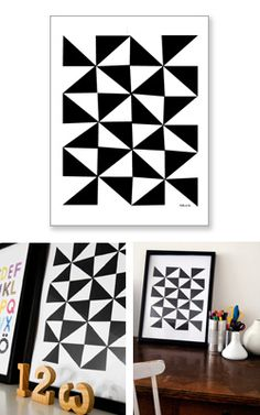 Via Gosto | Little Studio 'Just Black and White' | Geometric Poster