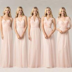 robe de demoiselle d'honneur convertible-blanc-cassé-rose