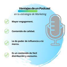 Los podcast son tendencia, son cada vez más las marcas que se apalancan de los podcasters para promover sus productos o servicios y la tendencia va en aumento. Pero, Latinoamérica va con unos pasos de retraso. Aún hay personas que no conocen las potencialidades de los podcast y su influencia en la decisión de compra y la importancia de incorporar dicho formato en la estrategia de marketing. #podcast #podcasting #marketing #marketingpodcast #contentmarketing #negocios Blog, Instagram, Marketing Strategies, Branding, Products, People, Blogging