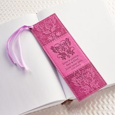 """""""Love"""" LuxLeather Pagemarker/Bookmark - 1 Cor. 13: 4,8 