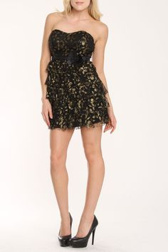 Shana Black and Silver Dress