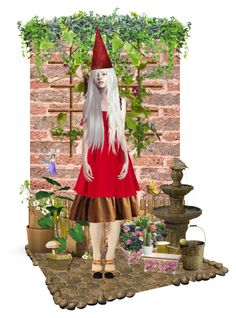 """""""""""Gnome Garden / Garden Gnome"""" Contest"""" by catyravenwood ❤ liked on Polyvore featuring art"""