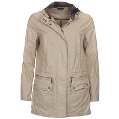 Women's Barbour Asiatic Lily Parka - Sand (£170) ❤ liked on Polyvore featuring outerwear, coats, barbour parka, parka coat, brown parka coat, brown coat and barbour coats