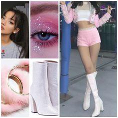 Korean Outfits Kpop, Kpop Fashion Outfits, Girls Fashion Clothes, Stage Outfits, Dance Outfits, Girl Outfits, Cute Casual Outfits, Pretty Outfits, Burgundy Homecoming Dresses