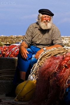 Fisherman, Centuri Harbour, Cap Corse, France