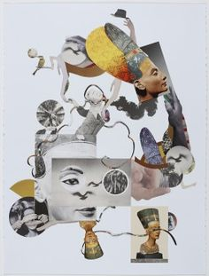 Photo collage portraits / community art with the Laundromat Project!
