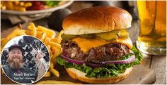 This burger is simple to make — and with a blockbuster secret ingredient (bacon!For the Best Burger. Best Burger Recipe Ever, Burger Recipes, Grilling Recipes, Chili Cheese Burger, National Cheeseburger Day, Secret Menu Items, Bacon, Burger Restaurant, Good Food