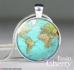 vintage World necklace pendant