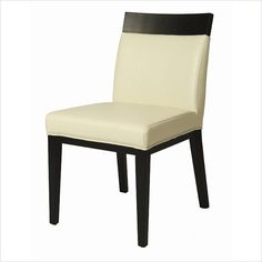 Pastel Furniture Elloise Side Chair in Bonded White Leather - QLEO11054840 - Lowest price online on all Pastel Furniture Elloise Side Chair in Bonded White Leather - QLEO11054840
