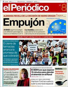 Los Titulares y Portadas de Noticias Destacadas Españolas del 8 de Noviembre de 2013 del Diario El Periódico ¿Que le pareció esta Portada de este Diario Español?