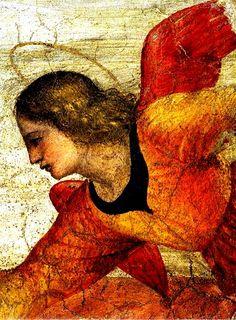 Bernardino Luini (Italian High Renaissance, c1480-1532) ~ Angel Fresco