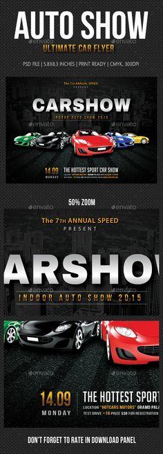Auto Show Flyer Template  HttpFfflyerComAutoShowFlyer