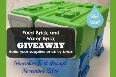 Food and Water Bricks Giveaway   The Easy Homestead (.com)