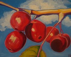 I found these cherries hanging from a nearby tree one day while on a walk. Art Work, Cherries, Day, Painting, Artwork, Maraschino Cherries, Work Of Art, Cherry Fruit, Painting Art