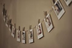 1st Birthday Party DIY - Polariod Pictures of Baby's Monthly Pictures. #DIY #Birthday #baby #prty