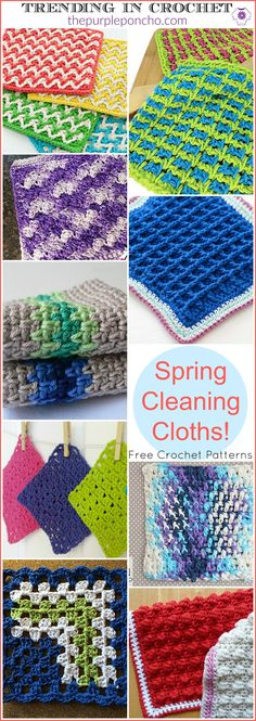 Come on over and see what's Trending in Crochet on The Purple Poncho this week… Spring Cleaning Cloths for your home! I've been in the Spring Cleaning mood lately, so I wanted to …
