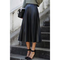 Retro Black Pleated Skirt....Timeless!! |Trendsgal.com