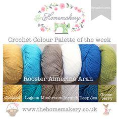 Crochet Colour Palette: Broadchurch a coastal inspired crochet colour palette featuring Rooster Almerino Aran - The Homemakery Blog