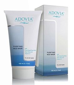 Adovia Facial Mask with Dead Sea Mud  Mud Mask for Men  Women  Reduces Acne  Blemishes  Lightens Skin  Scars  Natural Face Mask Exfoliator  Facial Cleanser  Minimizes Pores  Removes Toxins *** Be sure to check out this awesome product.
