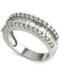 Diamond Baguette Band (1 ct. t.w.) in 14k White Gold