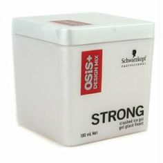 Osis+ Design Mix Strong Crushed Ice Gel - 100ml by Schwarzkopf. $200.00. Innovative - will enhance your well being.. This styling gel is formulated with Rock Crystal Provides strong contol Gives texture & separation Leaves shiny finish on hair Re-mouldable on damp & dry hairProduct Line: Schwarzkopf - Osis+Product Size: 100ml