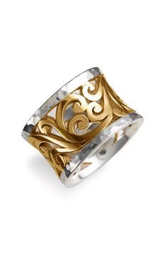 Lois Hill Two Tone Cutout Ring
