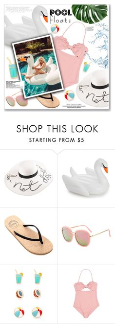 """""""Pool"""" by yexyka ❤ liked on Polyvore featuring interior, interiors, interior design, home, home decor, interior decorating, Celebrate Shop and Haute Hippie"""