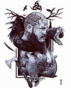 How come the Vikings became such great warriors? But bear in mind that the Vikings did not win all the battles. Ragnar Lothbrok Vikings, Norse Tattoo, Celtic Tattoos, Viking Power, Viking Warrior Tattoos, Old Warrior, Viking Character, Great Warriors, Norse Vikings