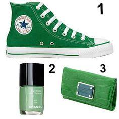 b12ca4f966bc84 Green Hightop Converse Chanel Nail Polish in Jade Marc Jacobs Wallet