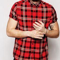 Get the best red flannel shirts for men from a reputed manufacturer in USA Oasis Uniform. For your bulk order visit the website and fill up the form now. Red Flannel Shirt, Flannel Outfits, Flannel Jacket, Flannel Clothing, Wholesale Clothing, Half Sleeves, Distressed Jeans, Kids Outfits, Bring It On