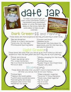 Date Jar Ideas!