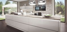 Lux from Nobilia, a High Gloss handle-less German Kitchen