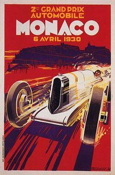 CAR RACE GRAND PRIX MONACO 1930 AUTOMOBILE