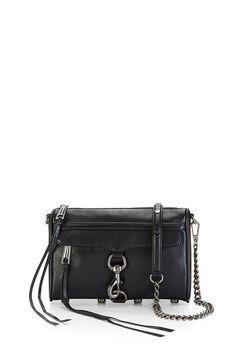 25a74166cb8a Black Gunmetal Mini M.A.C. Crossbody Bag