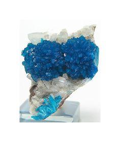 Teal Blue Cavansite Crystal Cluster Stilbite by FenderMinerals,