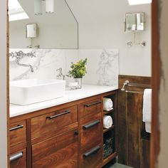 Photo: James Carrière | thisoldhouse.com | from Editors' Picks: Our Favorite Wood-Tone Bathrooms