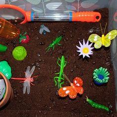 Garden sensory bin @childhood101