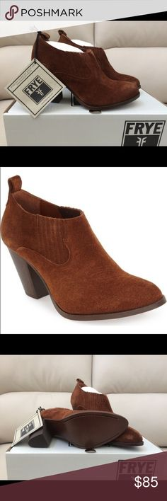 Frye Ilana Slip-On Bootie New in box, never worn They look great with nearly everything, jeans, dress, even shorts! Frye Shoes Ankle Boots & Booties