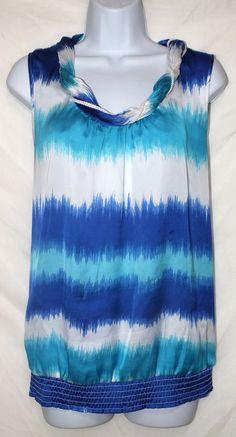 Dressbarn Sleeveless Multi Color Women's Top Blouse Shirt  Size L #dressbarn #Blouse #Casual