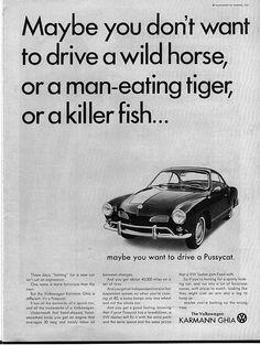 '66 Volkswagen Karmann Ghia, 'drive a pussycat'