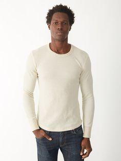 26.00 -  Soft And  effortlessly Warm Long Sleeve men T-shirt Made From Eco-thermal For Breathbility From Alternative, , ebuybit.com